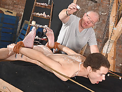 Roped Down & Exposed For Rump Play! - Jonny Pistol & Sebastian Kane
